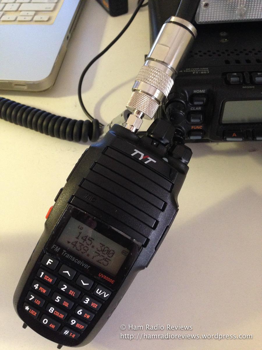 TYT UV8000E connected to Diamond X200 antenna