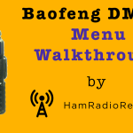 Baofeng DM-5R Menu Walkthrough [Video]