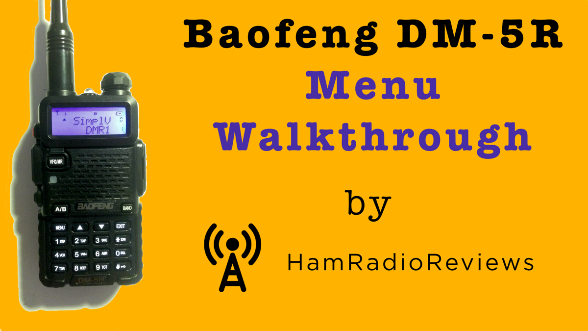 Baofeng DM-5R menu