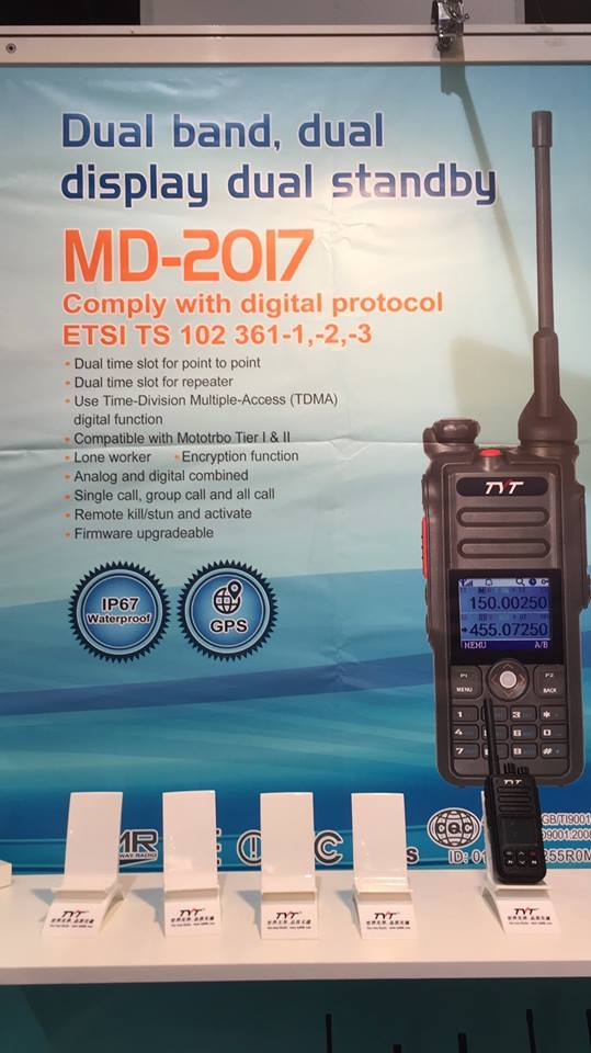 MD-2017 dual-band DMR handheld