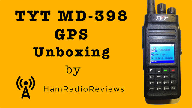 TYT MD-398 GPS Unboxing