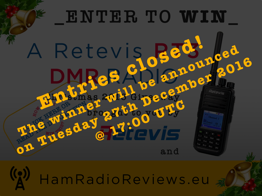 Retevis RT3 Giveaway Christmas 2016