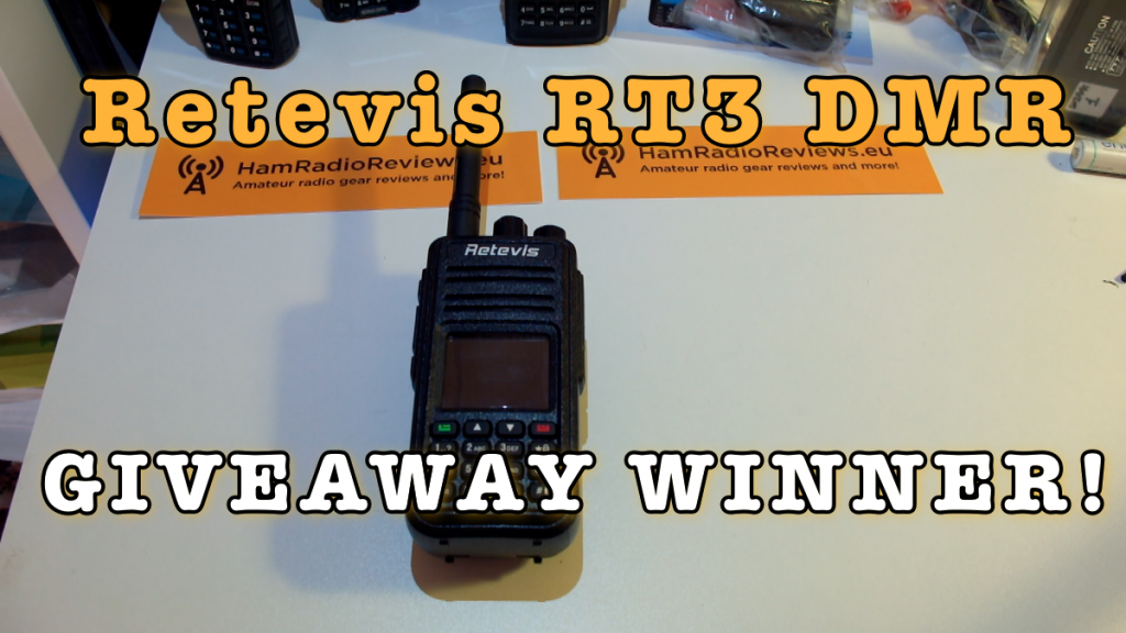 Retevis RT3 DMR Christmas 2016 Giveaway Winner