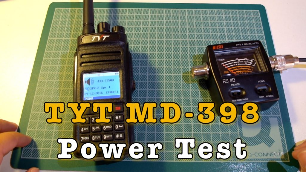 TYT MD-398 Power Test