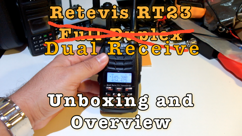 Retevis RT23 Dual Receive Unboxing